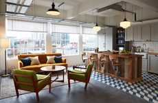 Homey Co-Working Spaces - Communal Office 'Soho Works' Offers a Lounge and Cafe for Employees
