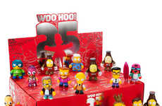 Miniature Cartoon Character Figurines - The Simpsons Kidrobot Set Celebrates the Show's Anniversary