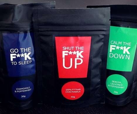 Foul-Mouthed Teas - This Range of Soothing Teas Features Cuss Words for Its Branding