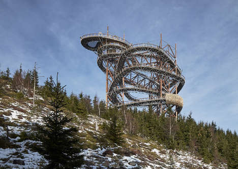 Gigantic Mountainside Slides - Fránek Architects Engineered a Slide Design that Measures 101-Metre