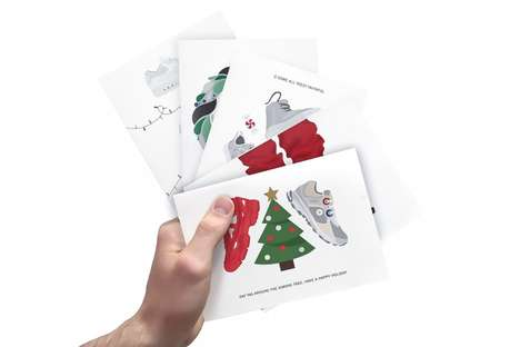 Footwear-Themed Holiday Cards - The Kickmas Festive Cards are Creatively Designed for Sneakerheads