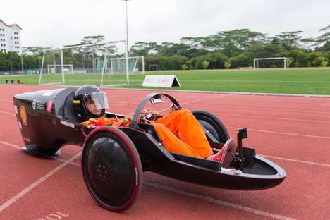 Individual Three-Wheeled Racers - This Student-Designed 3D-Printed Vehicle is a Clever Hybrid
