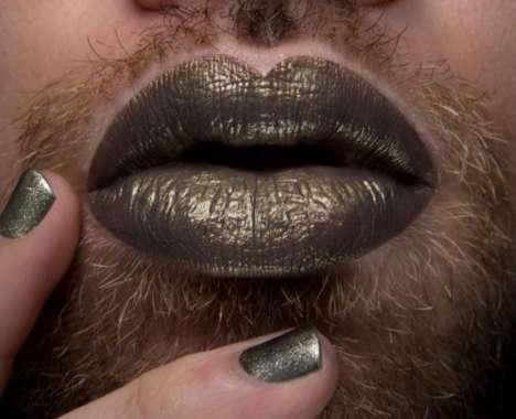 Male Model Lipstick Ads