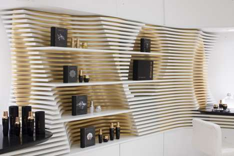 Undulating Boutique Interiors - This Houston Cosmetics Store Boasts a Stunning Whiteout Interior