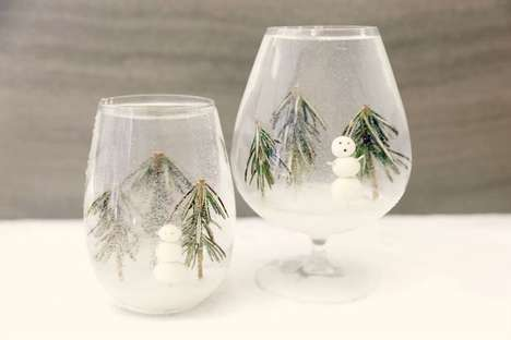 Snowy Globe Cocktails - This Festive Winter Drink is Features an Edible Snow Globe Design