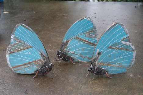 Upcycled Metallic Insects - These Eclectic Bug Sculptures are Made Using Scrap Metal Pieces