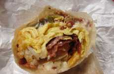 Piquant Breakfast Burritos - This Brunch Fast Food Sandwich Mixes Spicy Mexican and Breakfast Fare