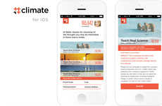 Eco Activism Apps - The #climate App is a Mobile Platform to Encourage Climate Change Activism