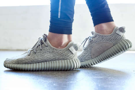 Celestial Rapper Shoe Designs - The Adidas Yeezy Boost 350 Moonrock Take Inspiration from Space