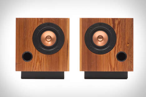Reclaimed Cubic Speakers - The Cube Sound System Offers Precision Sound with an Upcycled Design