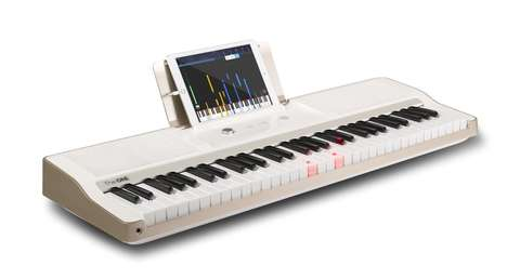 Automated Piano Teachers - The 'ONE' Light Keyboard Guides Players via Light Cues and Tablet Lessons