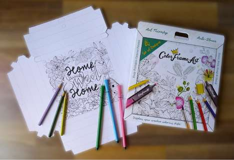 Adult Art Therapy Kits - The Blissfu Studi Adult Coloring Art Kit Provides Stress Relief