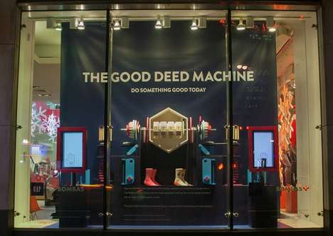 Charitable Retail Installations - The Bombas & Gap Campaign Consists of a Good Deed-Powered Machine