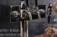 Carbonated Cold Brew Coffees - This Coffee Chain is Now Offering Nitro Coffee on Demand