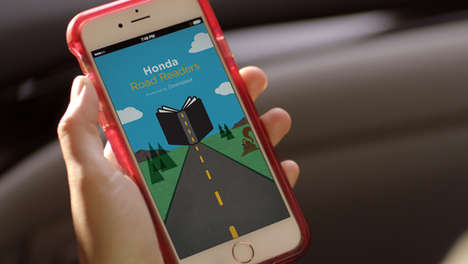 Child-Occupying Driving Apps - The Honda Road Readers App Delivers Free Audiobooks During Car Rides