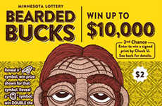 Beard-Branded Lottery Tickets - Minnesota Has Revealed a Hipster-Inspired Scratch Ticket