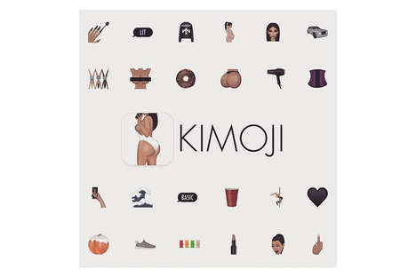 Socialite Emoji Apps - Kim Kardashian Refashions Basic Apple Emojis with the Launch of 'Kimoji'