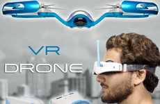 Virtual Reality Drones - The FLYBi Drone Uses Virtual Reality Goggles for Control