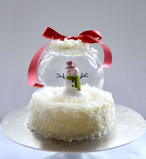 Edible Snow Globe Tutorials - This Snow Globe Cake Doubles as a Festive Holiday Decoration