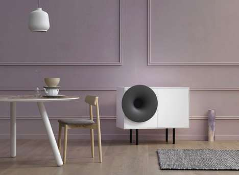 Modernized Gramophone Speakers - The 'Caruso' Hi-Fi System Takes the Best of Old and New Worlds