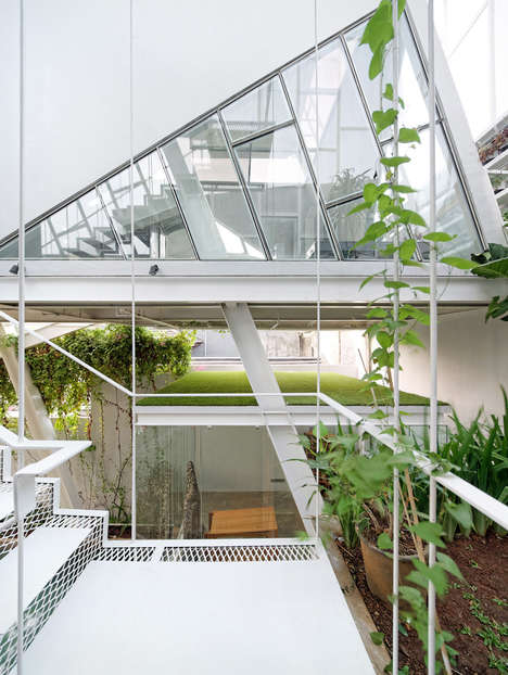 Tilted Glass Homes - The 'Slanted House' in Jakarta Was Built as a Symbol for Anti-Establishment