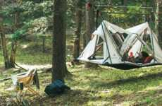 Suspended Single-Occupant Tents - This Suspended Tent Helps to Keep Users Cool and Dry