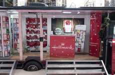 Greeting Card Trucks - Hallmark's Holiday Truck Helps People Discover the Joy of Sending Warm Wishes