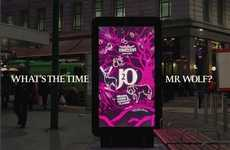 Startling Gaming Billboards - J2O's Interactive Bus Stop Poster Plays 'What Time is It, Mr. Wolf?'
