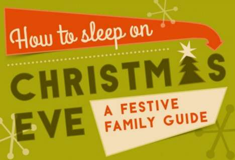 Festive Sleeping Infographics - This Guide Shares How to Get a Good Night Rest for Christmas Morning