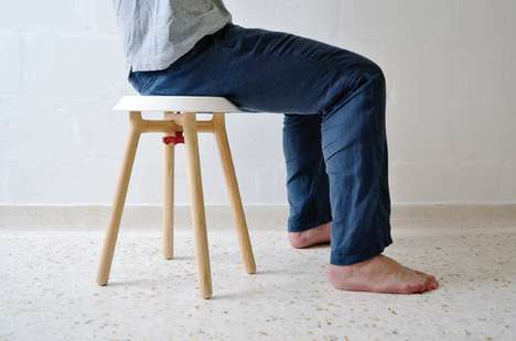 Quirky Flatpacked Perches - This Stool in a Box Makes for Breezy Shipping and Assembly