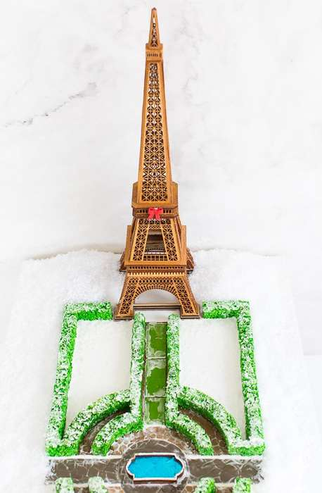Parisian Gingerbread Monuments - This Gingerbread House is Creatively Shaped Like the Eiffel Tower