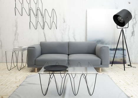 Sinuous Illusion Designs - A Collection of Wire Wave Pieces Experiments with Graphic Trompe l'Oeil