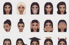Reality Star Emojis - Kim Kardashian's Kimojis Focus on the Celebrities Well-Known Accomplishments