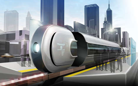 Slick Segmented Trains - This Mag Lev Train Proposes Private Carriages for Groups of Passengers