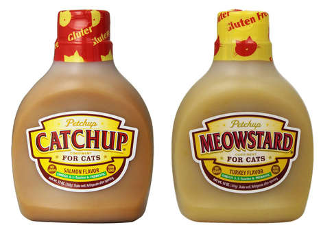 Feline-Focused Condiments - These Cat Treat Condiments Include Flavors Like Meowstard and Catchup