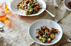 Pretzel Panzanella Salads - This Unconventional Salad Dish is Made Using Crispy Biscuits