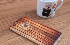 Carbonized Smartphone Cases - This Wooden Phone Case Style by VEASOON Features a Bumper Style
