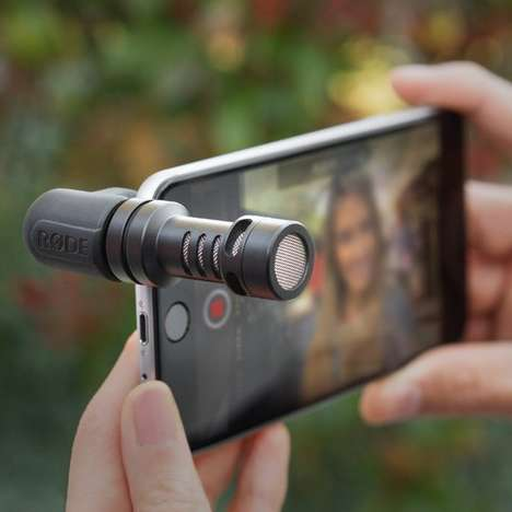 Attachable Mobile Microphones - The VideoMic Offers Professional Sound Quality to Smartphone Filming