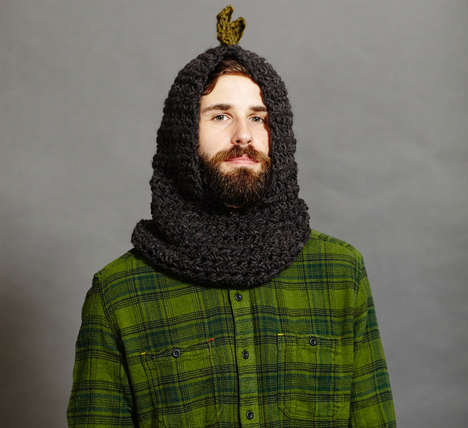 Adult Dinosaur Hoodies - This Stegosaurus Crochet Hat Offers Coverage on the Neck and Head