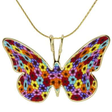 Gilded Butterfly Necklaces - This Luxe Insect Pendant Features a 24-Karate Gold Setting