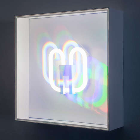 Fluorescent Prism Installations - The Wonderfluoro Light Art Pieces Visualize Rainbow Hues