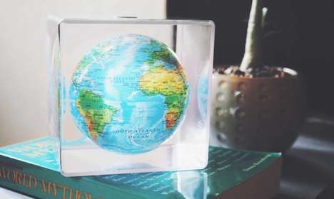 Floating Earth Ornaments - The 'MOVA Cube' Earth Globe is Whimsically Solar-Powered