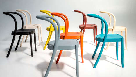 Technicolor Stackable Chairs - The St Marks Seating Styles are Made from Various Materials