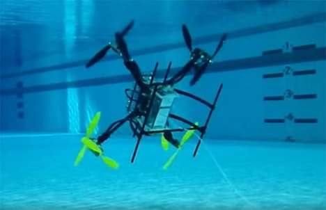 Aquatics-Approved Drones - The 'Naviator' Drone Design Tackles Air and Water with Ease
