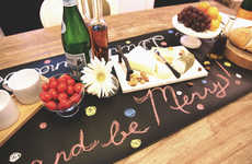 Chalkboard Table Runners - The Chalk Table Cloth Lets Consumers Customize the Design