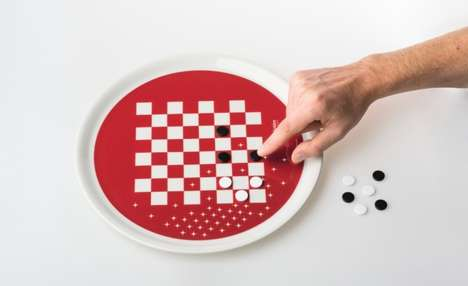 Board Game Dinnerware - The 'Eat and Play' Plate Design by Paolo Benevelli Enables Post-Meal Games