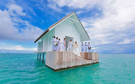 Remote Ocean Wedding Venues - The Four Seasons Resort Maldives Provides Secluded Ceremony Options