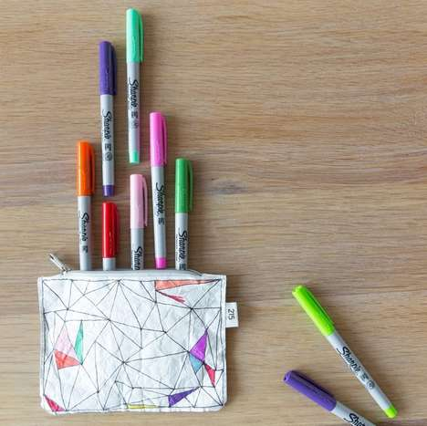 Customizable Paper Pouches - The 'Toogood' Pouch Design Encourages Owners to Doodle their Own