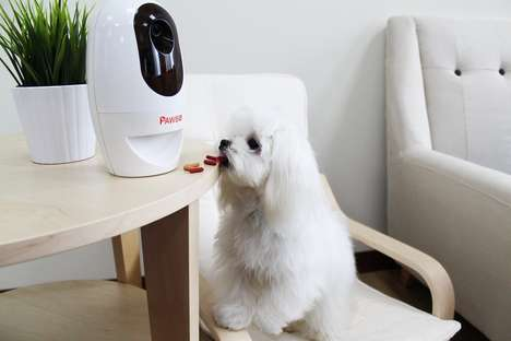 Treat-Dispensing Pet Cameras - The 'Pawbo' Pet WiFi Camera Lets Owners Keep Track of Dogs and Cats