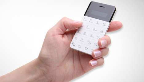 Minimized Mobile Phones - This Slim and Compact Phone Actually Sheds the Most Hi-Tech Features